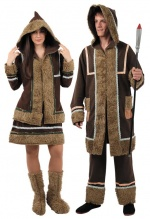 Eskimos costumes for the couple