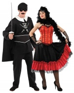 Zorro and can can dancer costumes