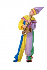 Harlequin or clown kids costume