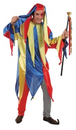 Court Jester Adult Costume MEDIEVAL