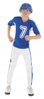 American football player kids costume CARNIVAL