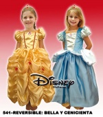 Belle and Cinderella reversible kids costume