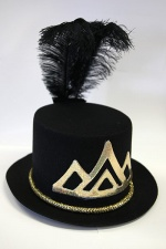 Black and golden party hat
