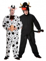 Bull and cow costumes for couples
