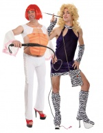Hen and stag costumes for the couple