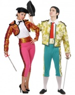 Bullfighter or torero costumes for couples