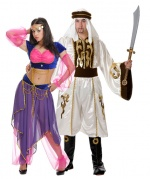 Lawrence of Arabia and princess of Arabia couple costumes