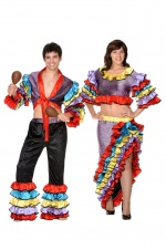 Cuban or rumba dancer costumes for couples