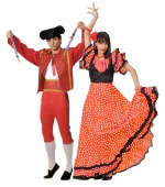 Andalusian costumes for couples CARNIVAL