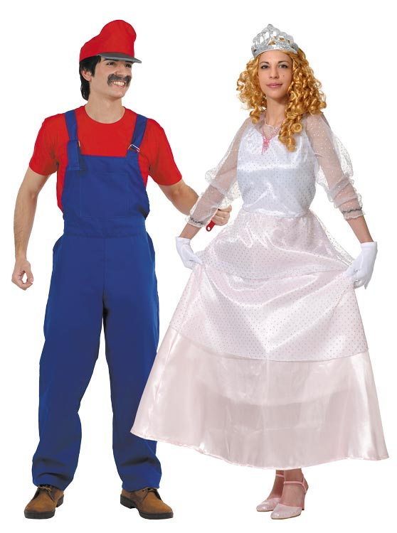 Mario Bross and Princess Peach costumes  sc 1 st  Costumes halloween carnival medieval and groups. COSTUMES BACANAL & Mario Bross and Princess Peach costumes  shop costumes costumes ...