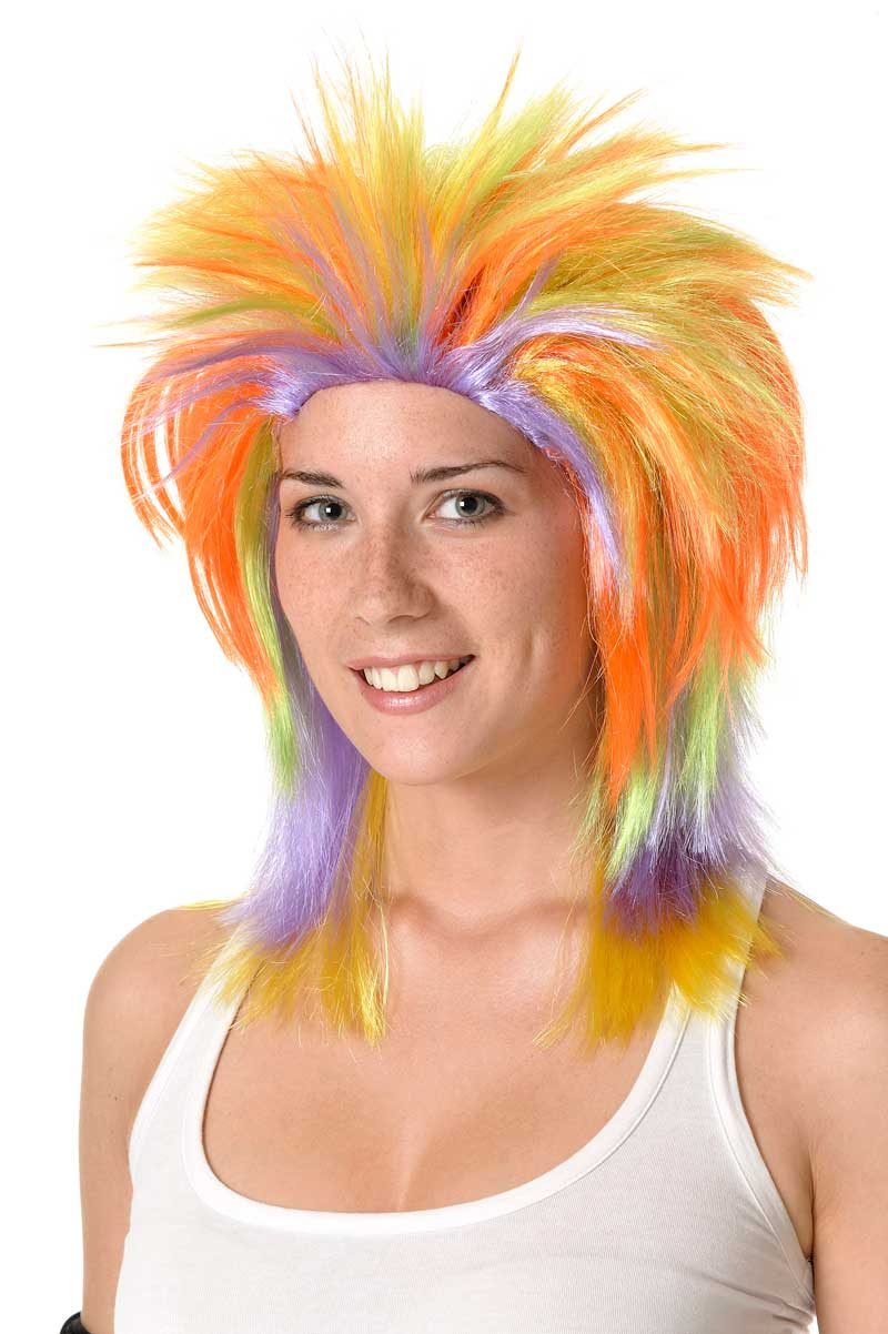 Punk multicolored wig