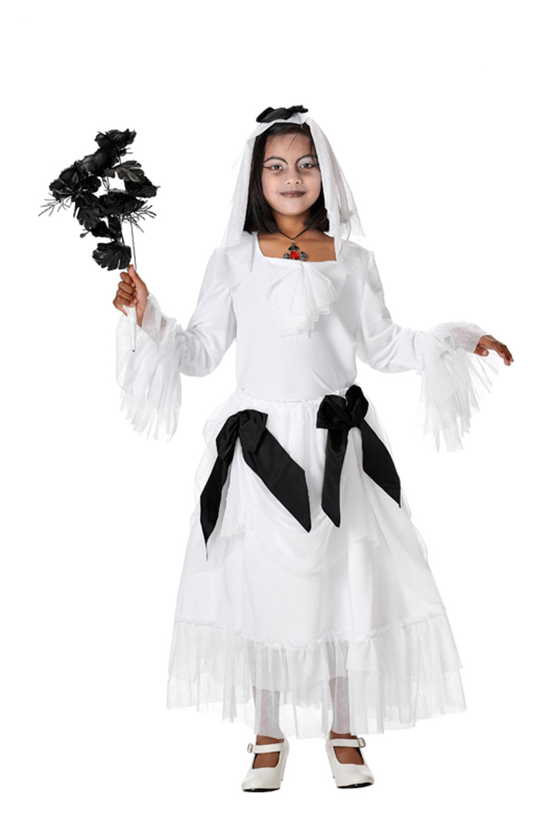 Ghostly or living dead bride girl costumes
