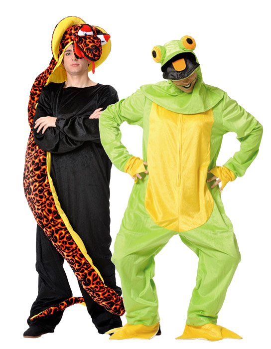 Cobra and frog costumes for couples