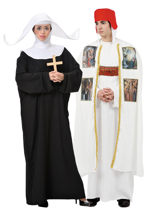 Bishop and nun costumes for couples