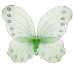 Butterfly fabric green wings