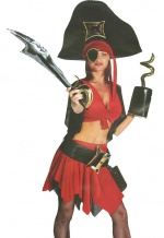 Pirate woman deluxe costume.