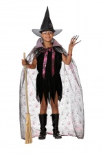Witch girl costume with cape