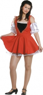 Cheerleader woman costume.